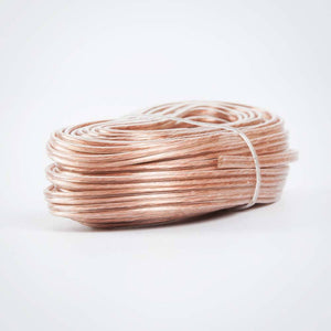 Speaker Wire - Flexible Clear Polarized Bulk Coil