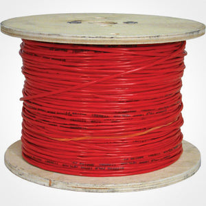 Vertical Cable 1000ft Fire Alarm Cable - 18/2 Solid FPLR, Red - ETL