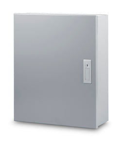 Austin AB-16166LM 16x16x6 Type 1 Large Hingecover OEM Cabinet - Includes Panel, Painted ANSI 61 Gray