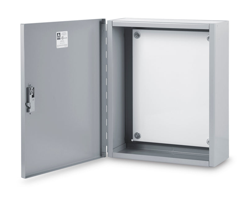 Austin AB-20208LM 20x20x8 Type 1 Large Hingecover OEM Cabinet - Includes Panel, Painted ANSI 61 Gray