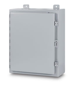 Austin AB-16168N 16x16x8 Type 12 Single Door Enclosure - Painted ANSI 61 Gray