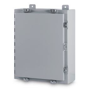 Austin AB-16128NF 16x12x8 Type 4 Single Door Enclosure - Painted ANSI 61 Gray