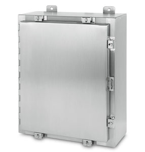 Austin AB-242412NFX 24x24x12 Type 4X Single Door Enclosure - 304 S.S.