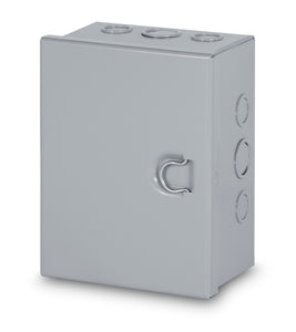 Austin AB-884HCGK 8x8x4 Type 1 Hingecover Junction Box - With ko's, Painted ANSI 61 Gray