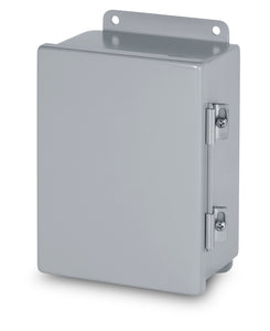 Austin AB-14128JH 14x12x8 Type 12 JIC Continuous Hinge Box - Painted ANSI 61 Gray