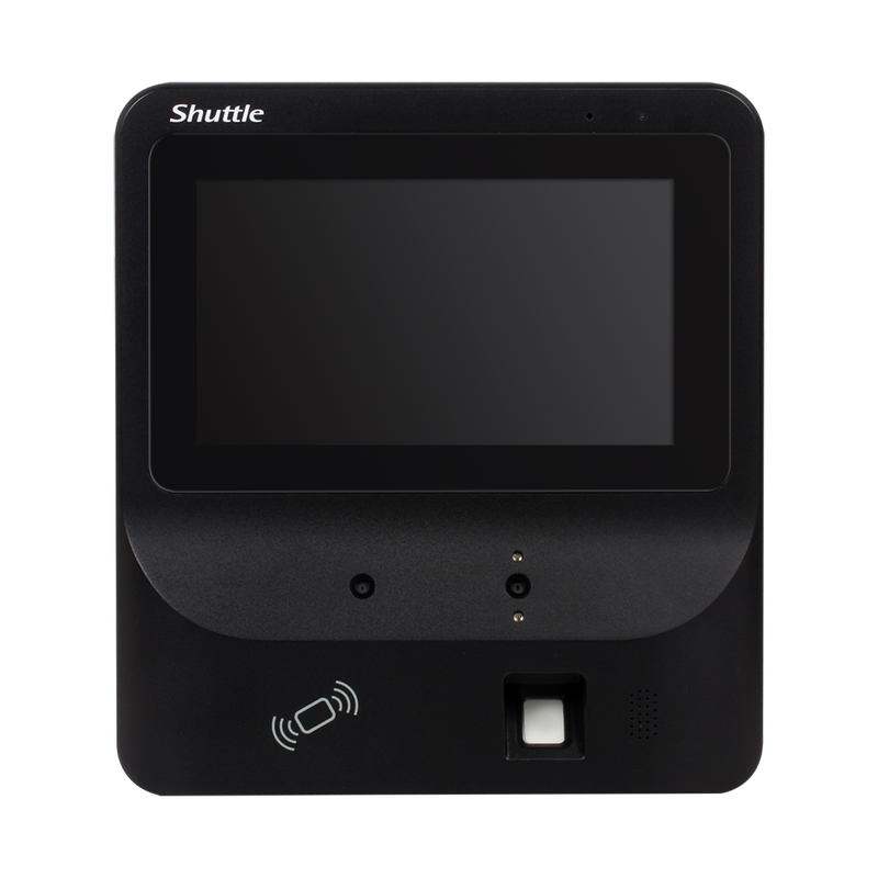 "Shuttle XPC BR06S Facial Recognition 7"" LCD Touch Screen, 2xCamera, RFID, Server Included, Fanless"