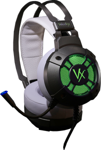 Velocilinx Boudica VXGM-HS71S-21O-WH 7.1 Surround Sound USB Gaming Headset, Silver and White