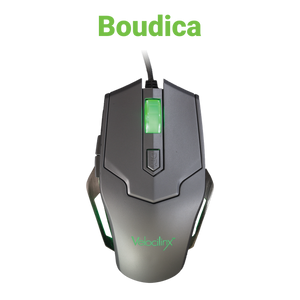 Velocilinx Boudica VXGM-MS5B-10K-SL Optical Gaming Mouse, Silver and Gray