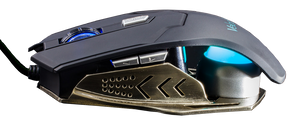 Velocilinx Brennus VXGM-MS5B-10K-BK Optical Gaming Mouse, Silver and Black