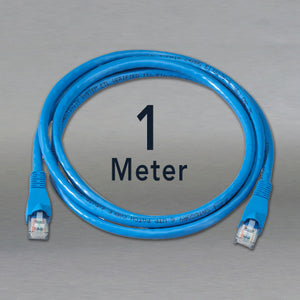 CAT5e Patch Cable Din Space Unshielded in Blue - 1m