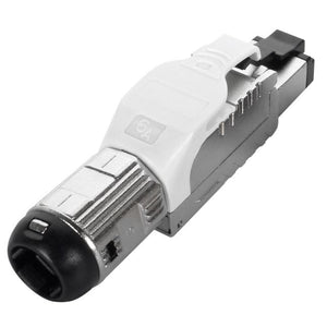 Cat6a Field Terminable Plug for Solid / Stranded Wire Cable, 23-26AWG, 6.0-7.5mm OD