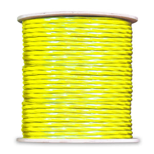 Cat5e WaveNet Cable with 500ft + 2 RG6 Quad - Yellow