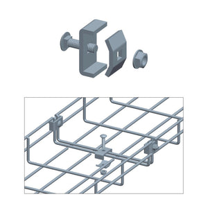 Quest Cable Tray Coupler, Zinc
