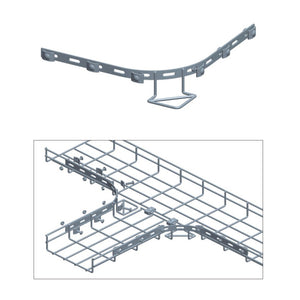 Quest Cable Tray Curved Bar Kit with mounting H/W, Zinc