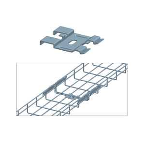 Quest Cable Tray Bottom Coupler, Zinc