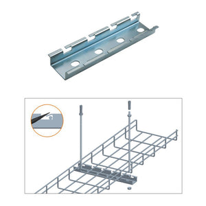 Quest Cable Tray Ceiling Hanging Bar, Zinc