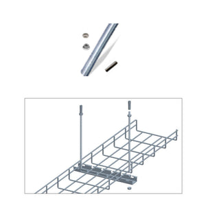 Quest Cable Tray Screw Rod with Cement Wall Anchor Kit, 3'