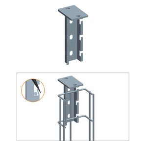 Quest Cable Tray T-Type Hanging Bracket, Zinc