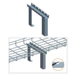 Quest Cable Tray Cabinet Top Stand, Zinc