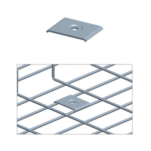Quest Cable Tray Central Hold Down, Zinc