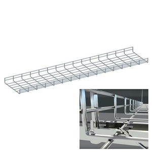 Quest Wire Mesh Cable Tray, Zinc (4-10ft)