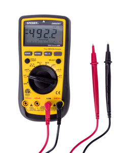 Sperry Instruments True RMS Digital Multimeter, Auto ranging, 10 Funct, 10 Range, 750/1000V AC/DC, 10A Current, Resist, Diode, Cont, Batt, DM6650T