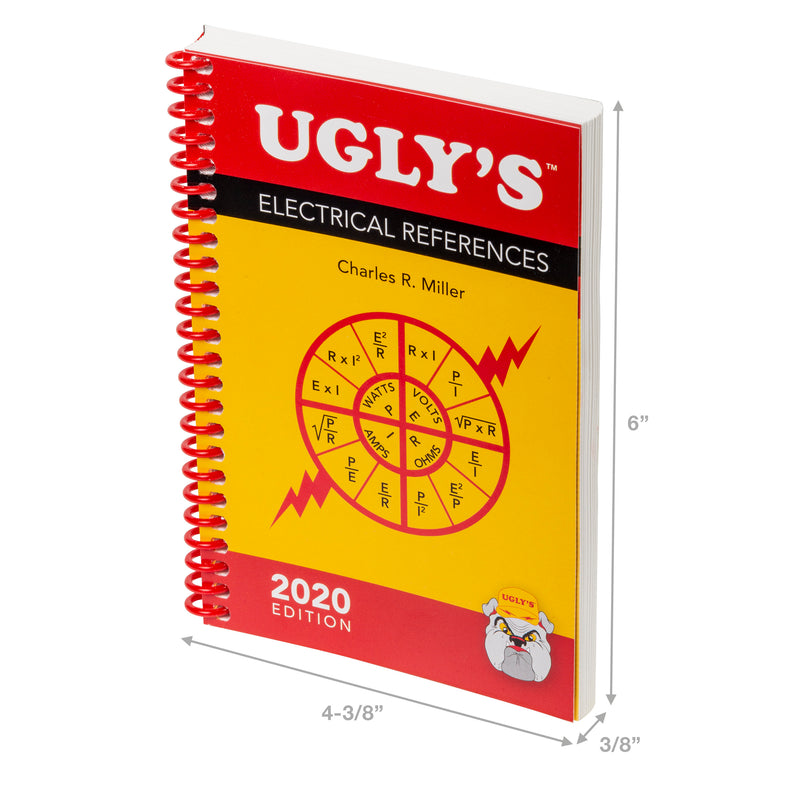 Gardner Bender Ugly's Electrical References - Revised 2020 Edition - Pro Electrician Reference Guide, ERB-UG