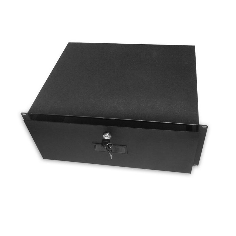 "Quest Locking Storage Drawer Shelf, 19"" x 14""D, Black"