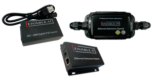 Enable-IT 1-Port Outdoor Gigabit Ethernet Extender Kit over 1-pair wiring