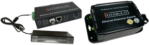 Enable-IT 1-Port 600Mbps Outdoor Coax Gigabit PoE Extender Kit
