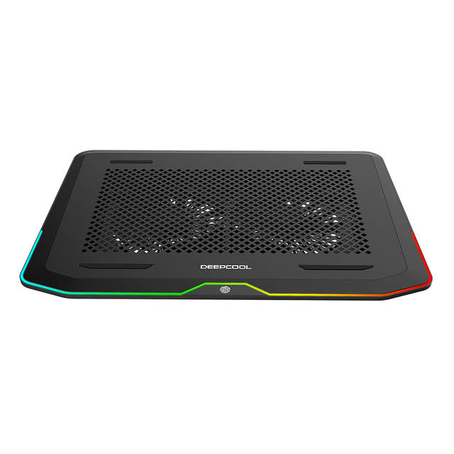 "DEEPCOOL N80 RGB Laptop Cooling Pad, 16.7 Million RGB Colors LED, Pure Metal Panel, Two 140mm Fans, up to 17.3"" Notebooks"