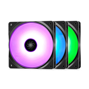 DEEPCOOL RF 120 (3 IN 1) 120mm RGB LED Case Fan (3 Pack)