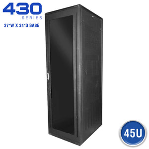 Quest Floor Enclosure Server Cabinet, Acrylic Door, 45U, 7' x 27