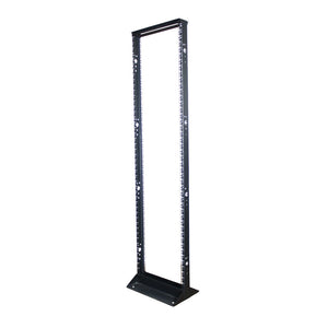 Quest 2-Post Open Frame Steel Floor Rack, 45U, 7' x 19