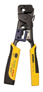 Sperry Instruments Crimp-n-Test RJ-45 and RJ-11 Crimping Tool with Built-in Tester, 1/Ea, GMC-3000