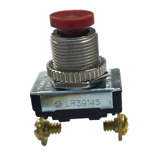 Gardner Bender SPST Momentary Contact Push-Button Switch (Red), GSW-23