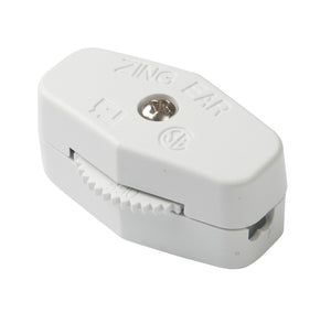 Gardner Bender Heavy Duty Cord Switch, SPST, White, 6 A 125VAC, GSW-72