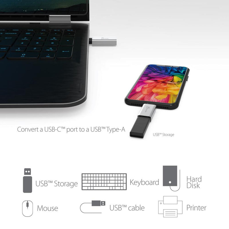 j5create USB-C to USB Type-A 3.1 Adapter, JUCX15