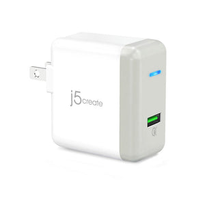 j5create JUP10 QC3.0 USB Charger - 4X Faster Cahrger