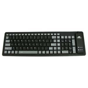 Mid Size Flexible USB Keyboard, Black/Gray