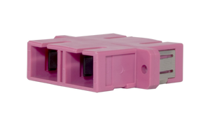 Techlogix Networx M4D-ADPT-SCSC Fiber optic coupler -- duplex multimode OM4 SC to SC coupler