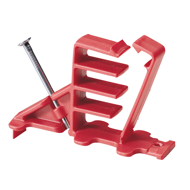 Gardner Bender SnapSHOT Multi-Cable Staple, Red, NM (flat and round), Coaxial and Data/CAT5