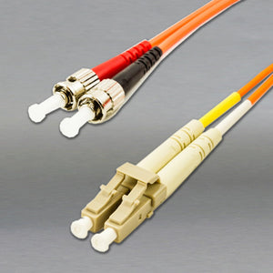 DINSpace LC/ST Multimode (62.5/125) Duplex Fiber Patch Cable