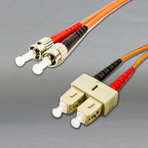DINSpace ST/SC Multimode (62.5/125) Duplex Fiber Patch Cable