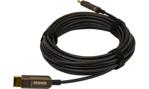 Techlogix Networx MOFO™ Media Over Fiber Optic cable -- DisplayPort 1.4 -- Plenum Rated