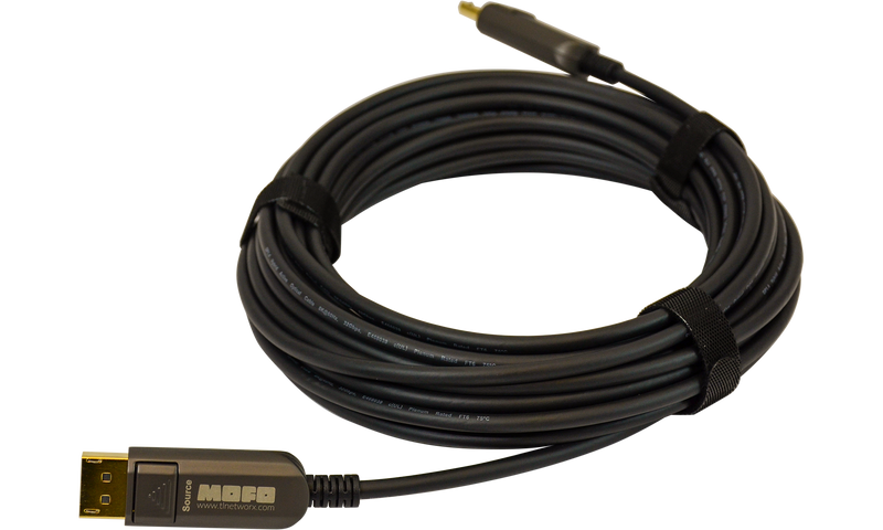 Techlogix Networx MOFO Media Over Fiber Optic cable -- DisplayPort 1.4 -- Plenum Rated
