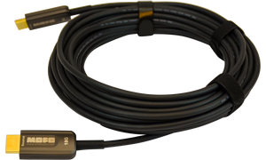 Techlogix Networx MOFO Media Over Fiber Optic cable -- 18G HDMI 2.0 -- Plenum Rated