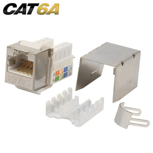 Quest Cat6A Shielded 90 Degree Keystone Jack