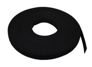 Nitrotel Velcro Hook And Loop Cable Tie 30Ft Roll (Black) 3/4