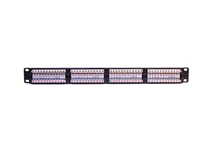 Nitrotel EngineerPro 1U 24-Port Cat6 Patch Panel110 IDC T568A/B